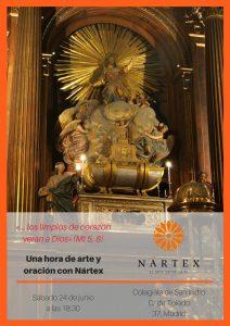 Cartel de Arte y Oración - Nártex